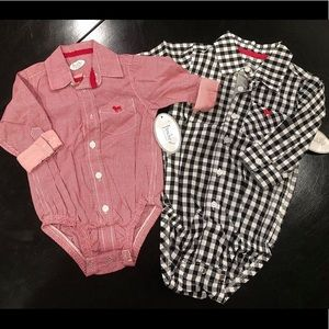 Red one piece Size 6 months Frenchie Couture NWT